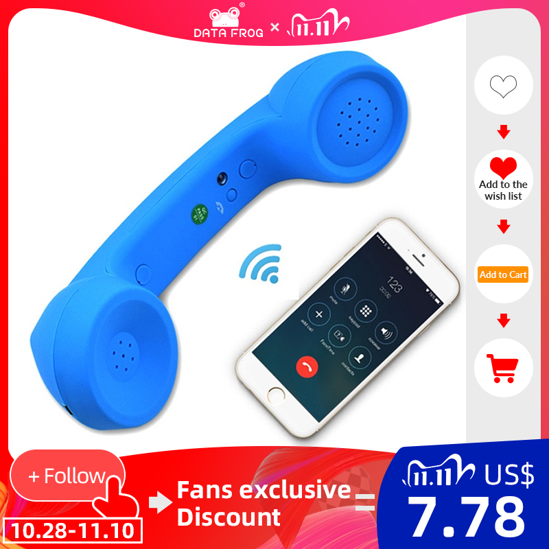 Wireless Retro Telephone Handset and Wired Phone Handset Receivers Headphones for a mobile phone with comfortable call