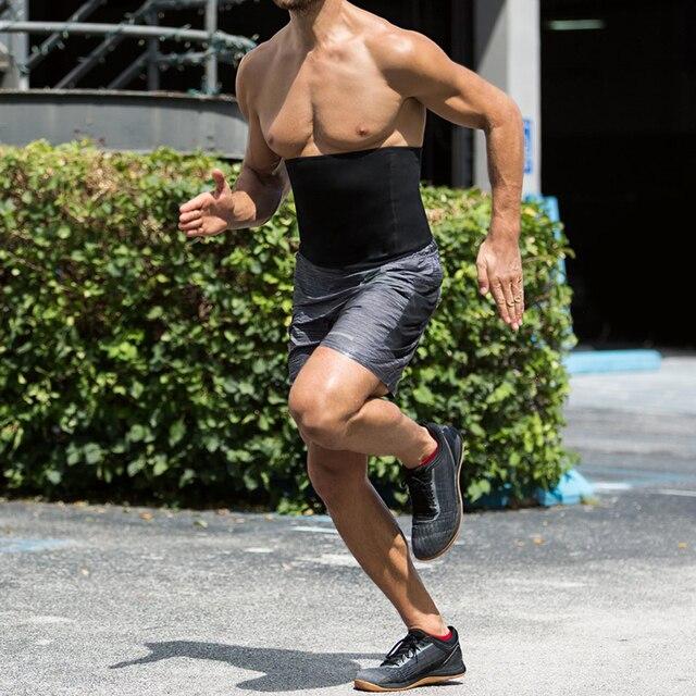 Newest Men Sweat Belt Body Shaper Waist Trainer Tummy Control Belt Sauna Slimming Strap Fitness Sweat Shapewear for Fat Burner 5