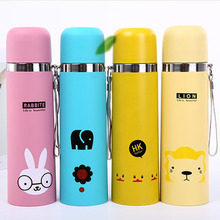 Creative vacuum stainless steel flask Childrens student portable cartoon bullet water glass
