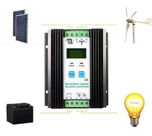 street light Wind Solar hybrid system charge controller 300w 500w 600w 800w 1000w 1200w 12v 24v wind generator free shipping(China)