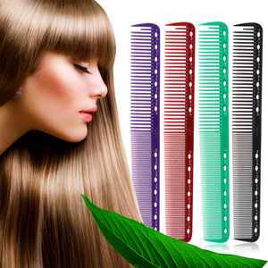 Image 2 - 6 Colors Professional Hair Combs Barber Hairdressing Hair Cutting Brush Anti static Tangle Pro Salon Hair Care Styling Tool
