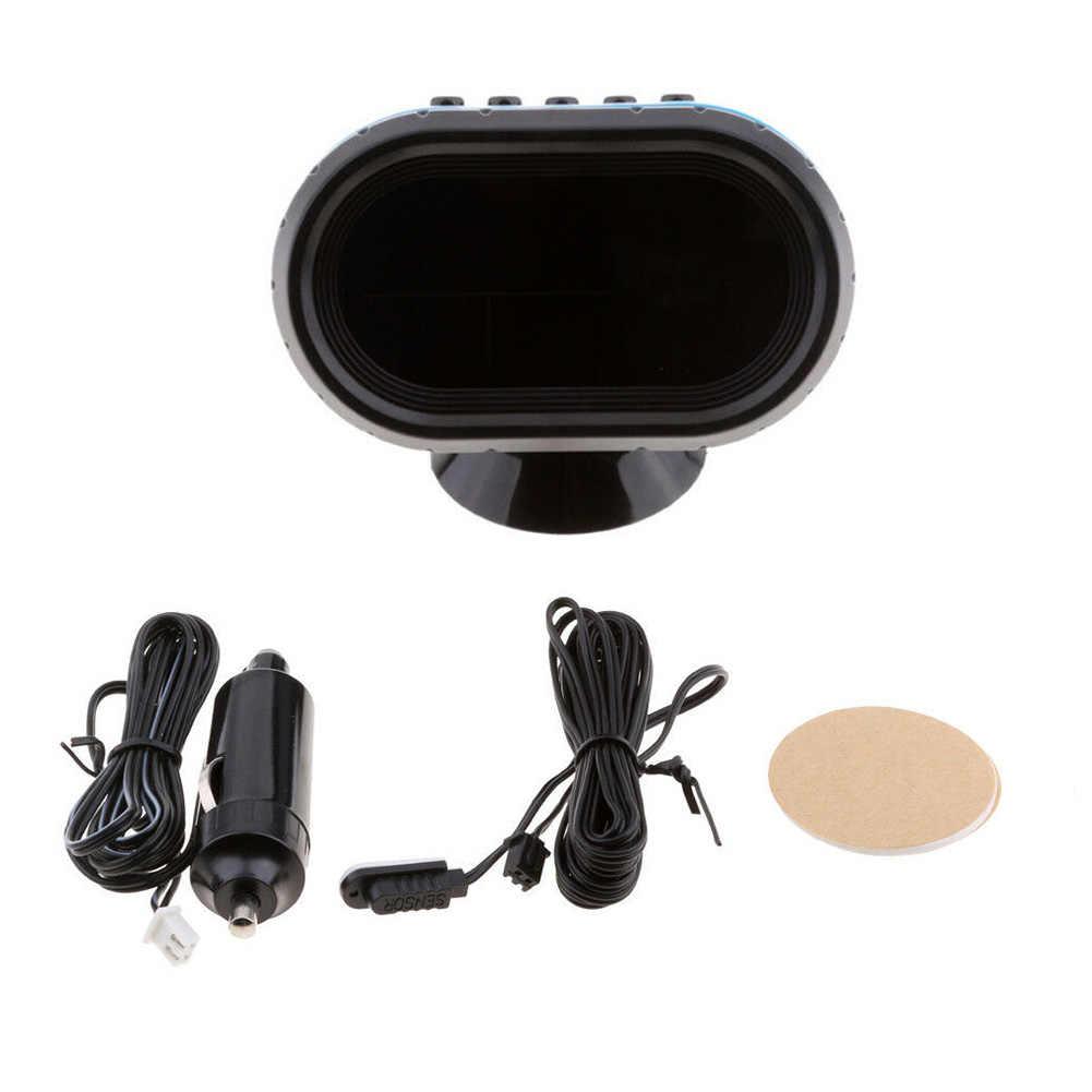 12 V/24 V voiture LCD thermomètre numérique voltmètre horloge LED alarme moniteur testeur nouveau