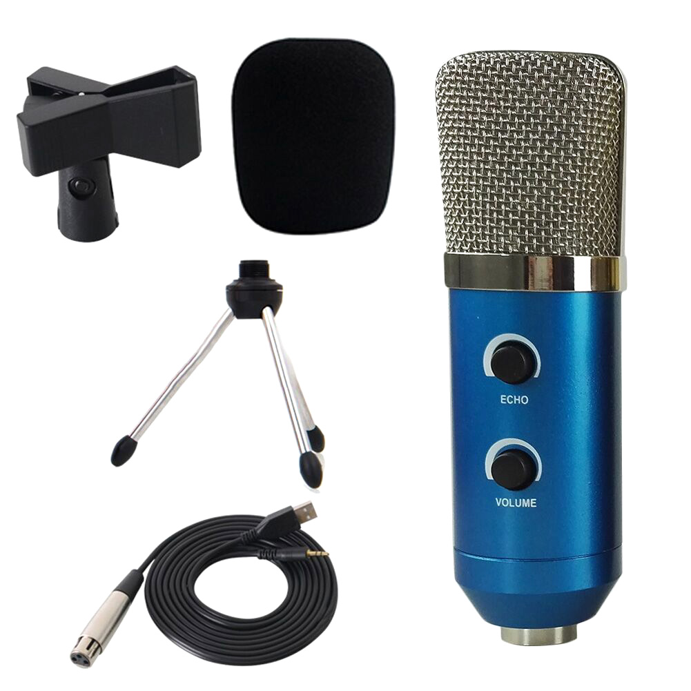Professional USB Condenser Microphone With Tripod For Video Recording Karaoke Studio PC OD889