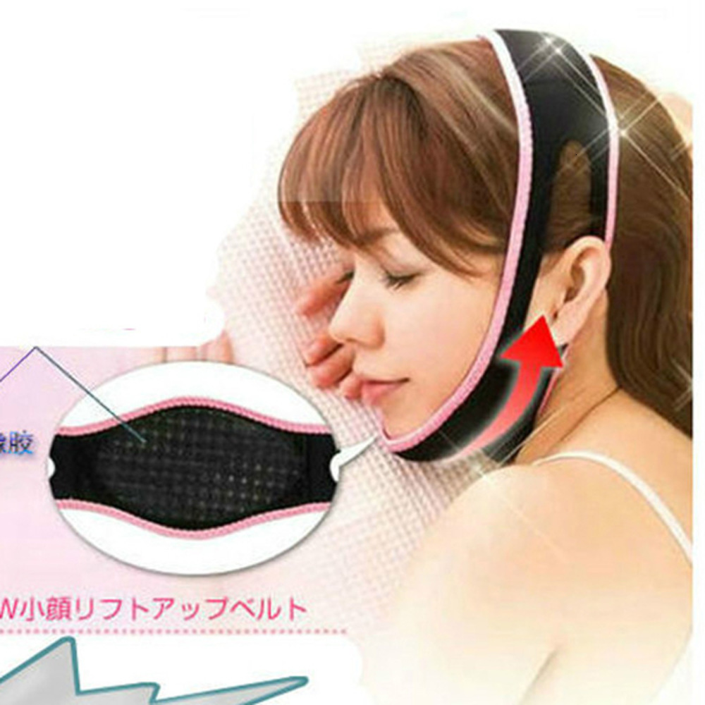 V Face Shape Lifting Tools Mask Slimming Facial Thin Masseter Double Chin Skin Bandage Belt Women Sleeping Anti Cellulite OEDO