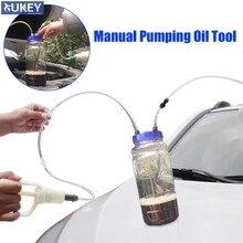 DIY portátil Universal Manual de aceite Diesel gasolina cambio bomba succión Motor Vacío artefacto coche transferencia herramienta de almacenamiento de plástico