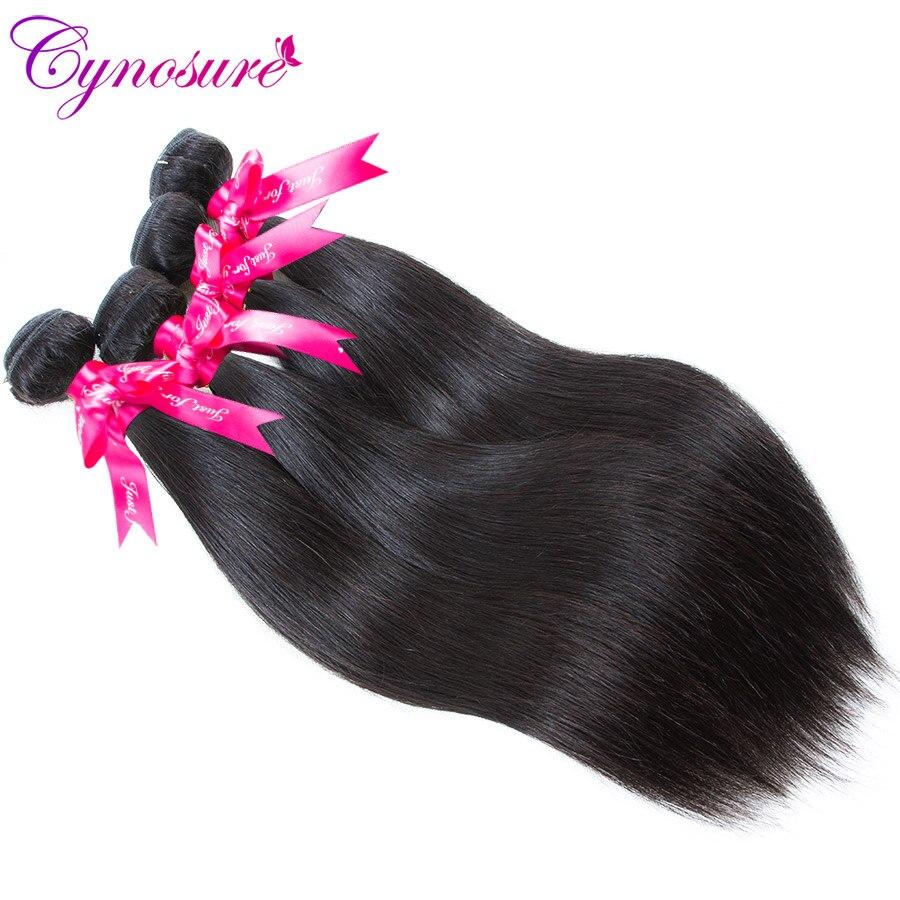 He9e80d11114843279c61d28e9ea67febq Cynosure Brazilian Straight Hair Weave 3 Bundles with Closure Natural Black Remy Human Hair Bundles with Closure