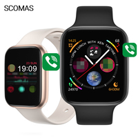 "SCOMAS IWO 8 Pro T5 Smart Watch 1.54"" Touch Screen Heart Rate Blood Pressure Monitor Bluetooh Call For iOS Android Smartwatch