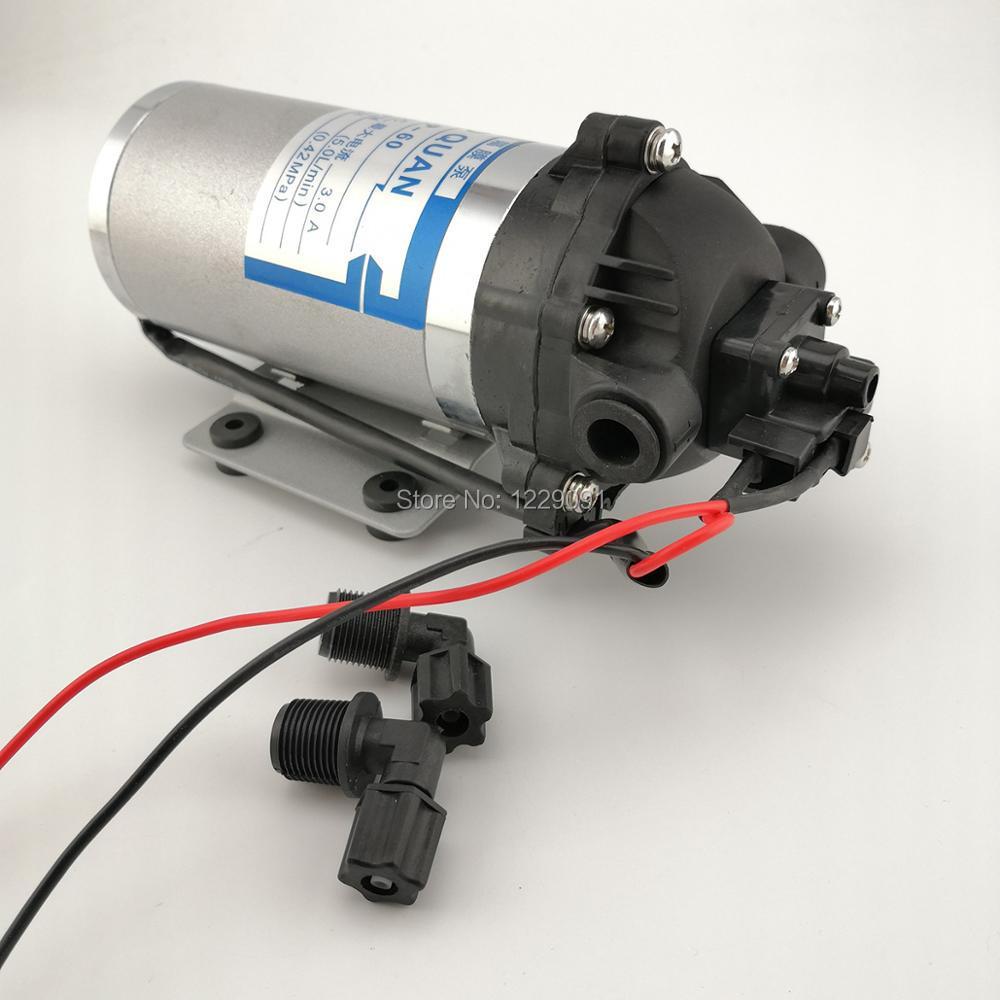 Mini High Pressure Water Pump 12v 24V DC 40W 5L/min 4.2 Bar Automatic Switch Diaphragm Pumps Self Suction Pump Car Washing