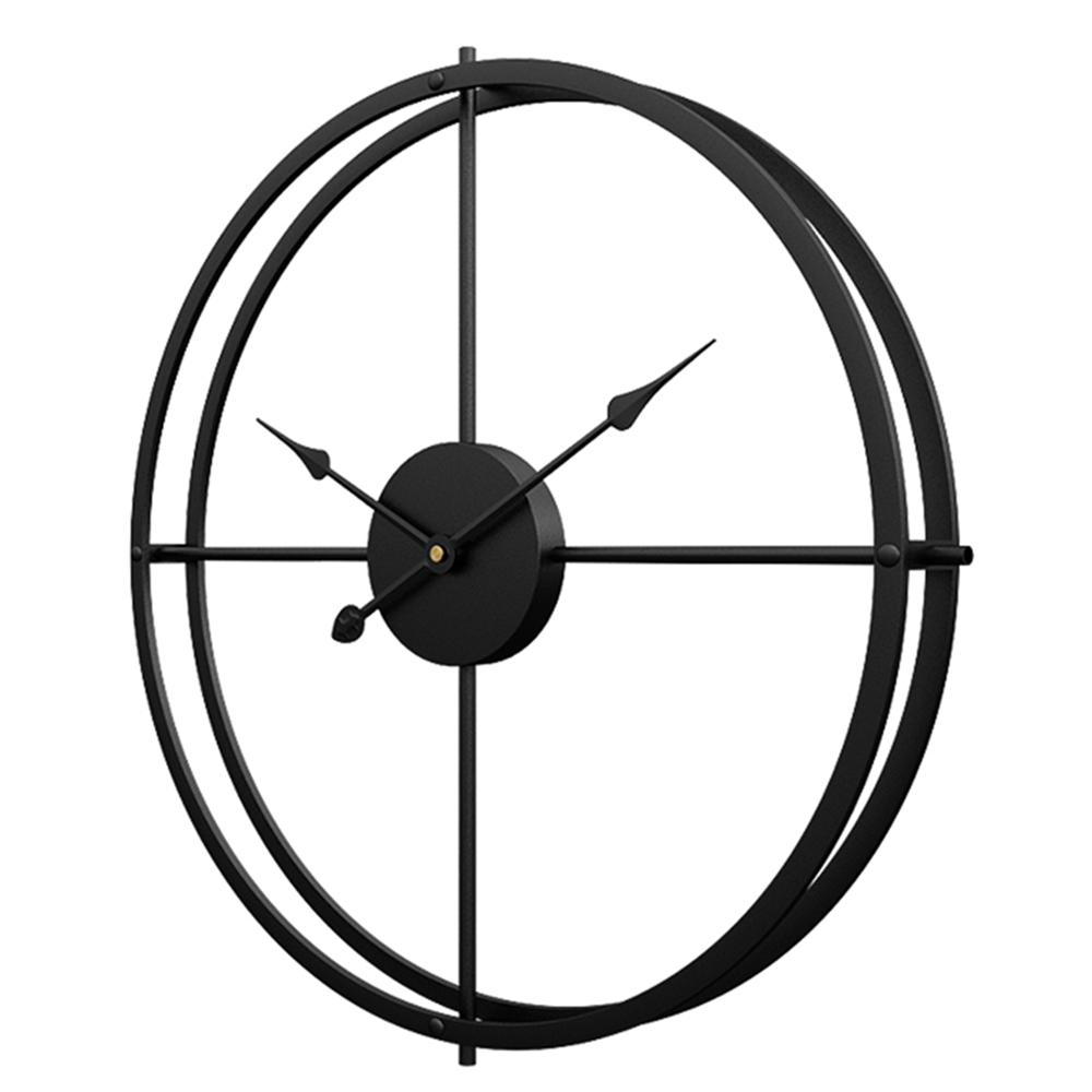 40cm/ 60cm Retro Simple Iron Art Silent Wall Clock Home Decor Horloge Murale Grande Taille Large Wall Clocks For The Living Room
