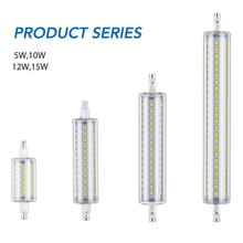 R7S LED Lamp 78mm 10W Corn Bulb Tube Light 118mm 5W 12W 15W 220V Bombillas r7s J78 J118 Floodlight 135mm 189mm 2835