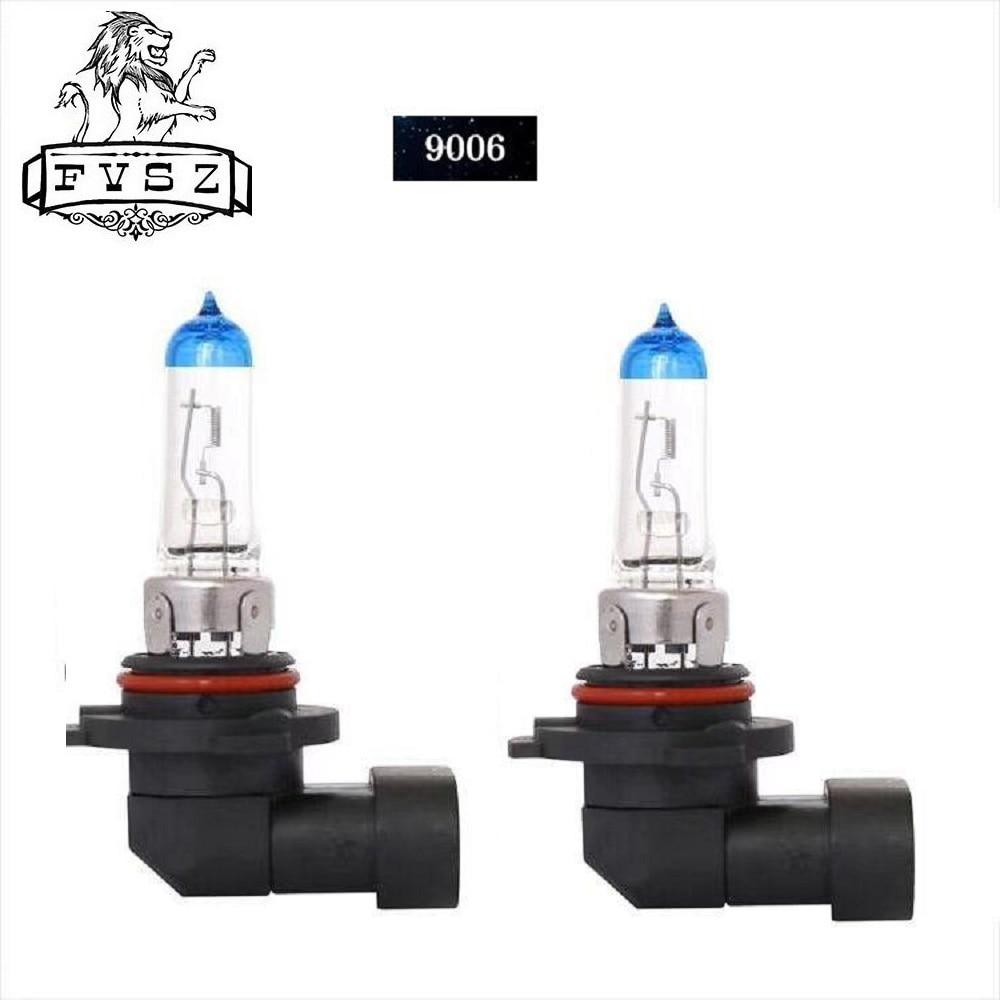 2Pcs HB4 9006 12V 55W 5000K Auto Halogen Headlamp Bulb Bulb Blue Light Lamp Super White Naturally