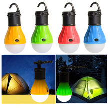 Portable 4 Colors Tent Lamp LED Tent Light Hook Hurricane Emergency Lights Tent Lantern Bulb for Camping Fishing Use 3*AAA cheap POCKETMAN CN(Origin) ROHS Brighter and More Efficient LED Bulbs Portable Lanterns 2 years LED Lantern Tent Camp Light Bulb