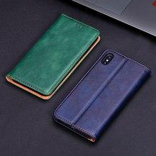 Skórzane etui do Xiaomi Redmi uwaga 2 3 4 4X 4A 5A 5 PRO 7 6 6A 8 8T 8A S2 K20 miękka tylna pokrywa dla Redmi Note5 Pro portfel przypadku