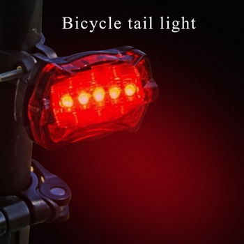 LED Waterproof Tail Light Bicycle Taillight for Bicycle Reflector Rear Lights Bike Lamp Lantern Accessories Cycling Light image