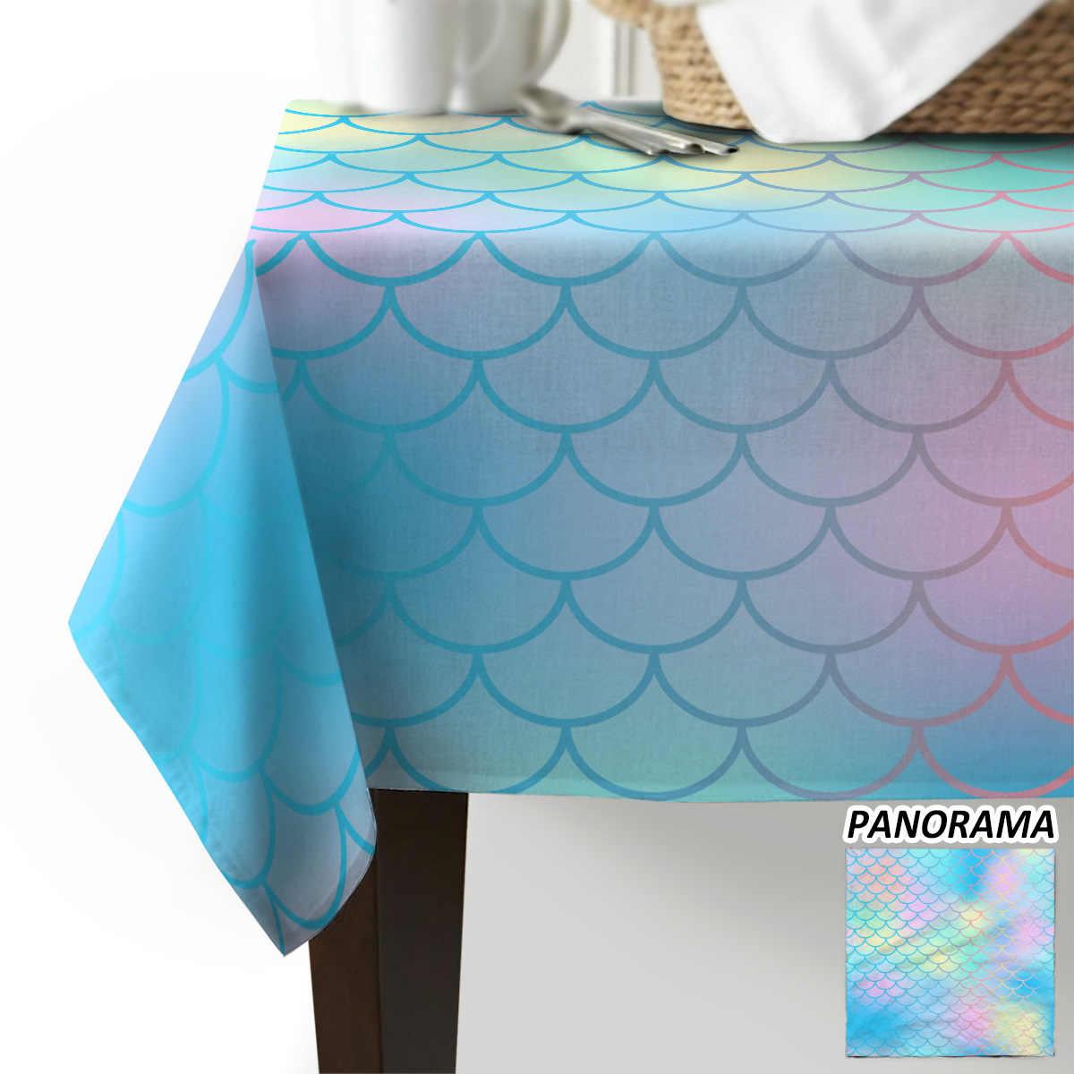 Fishscale Mermaid Kleur Tafelkleed Bruiloft Verjaardag Party Tafel Dekken Decoratieve Doek Veeg Covers Home Keuken Decoratie