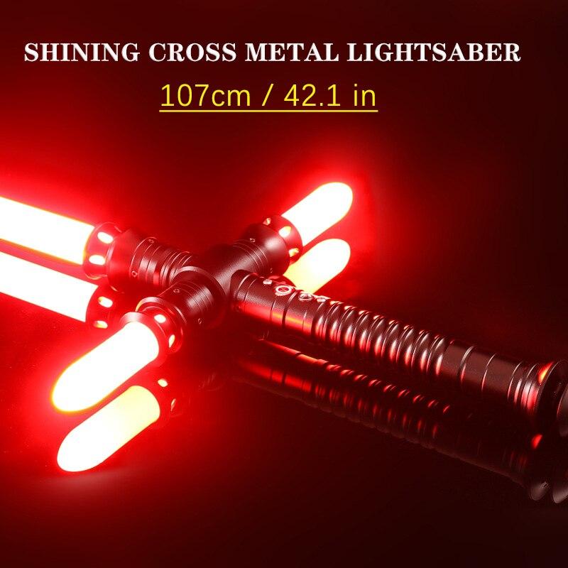 Star Wars Jedi knight kylo Ren Action figures duel 107cm weapon sword Lightsaber Foc Lock Up Metal Hilt Blaster Sound Lightsaber