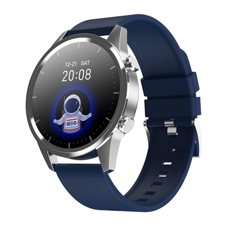 2020NEW Smart Watch Men Bluetooth Call Heart Rate Blood Pressure Oxygen Full Round Touch Screen Weather Display Women Smartwatch 1