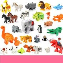 New Animal Large Particle Fit Duplo Figures City Zoo Model Building Blocks Bricks Kids Toys DIY Gift Kid Birthday