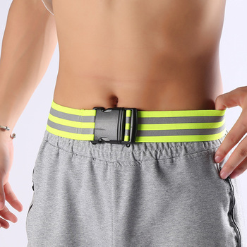 44 Inches Reflective Elastic Waist Belt Highlight Waistband Night Work Outdoor Sports Traffic Safety - discount item  21% OFF Roadway Safety