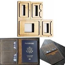 יפן פלדת להב למות חותך עור תבנית דרכון ארנק מתנה לגבר דרכון בעל אגרוף יד כלי לחתוך סכין עובשחבטות