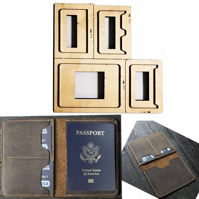 Japão lâmina de aço morrer cortador modelo de couro passaporte carteira presente para o homem passaporte titular punch ferramenta mão corte faca molde