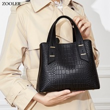 2019 NEW leather handbag stylish designed genuine leather bag women ZOOLER high quality top handle tote bag pattern purse#wg203 sales zooler 2017 new designed woman bag 100