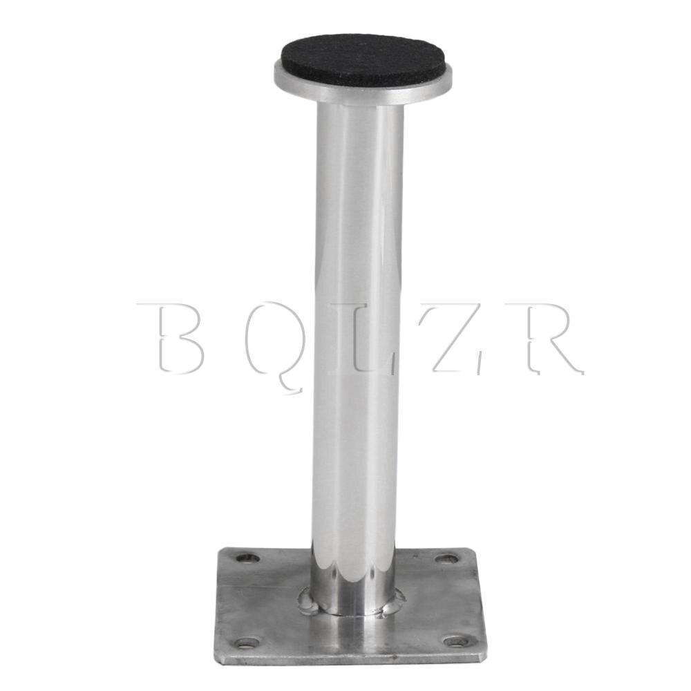 BQLZR Bright Silver Long Round Furniture  Feet for Sofa Cabinet 60x130mm