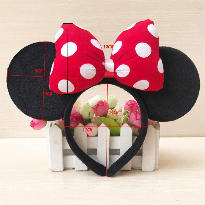 עכבר חמוד אוזן מיקי סרט גל נקודת קשת גדולה שיער להקת פרח נסיכת מסיבת יום הולדת ספקי צד סרט
