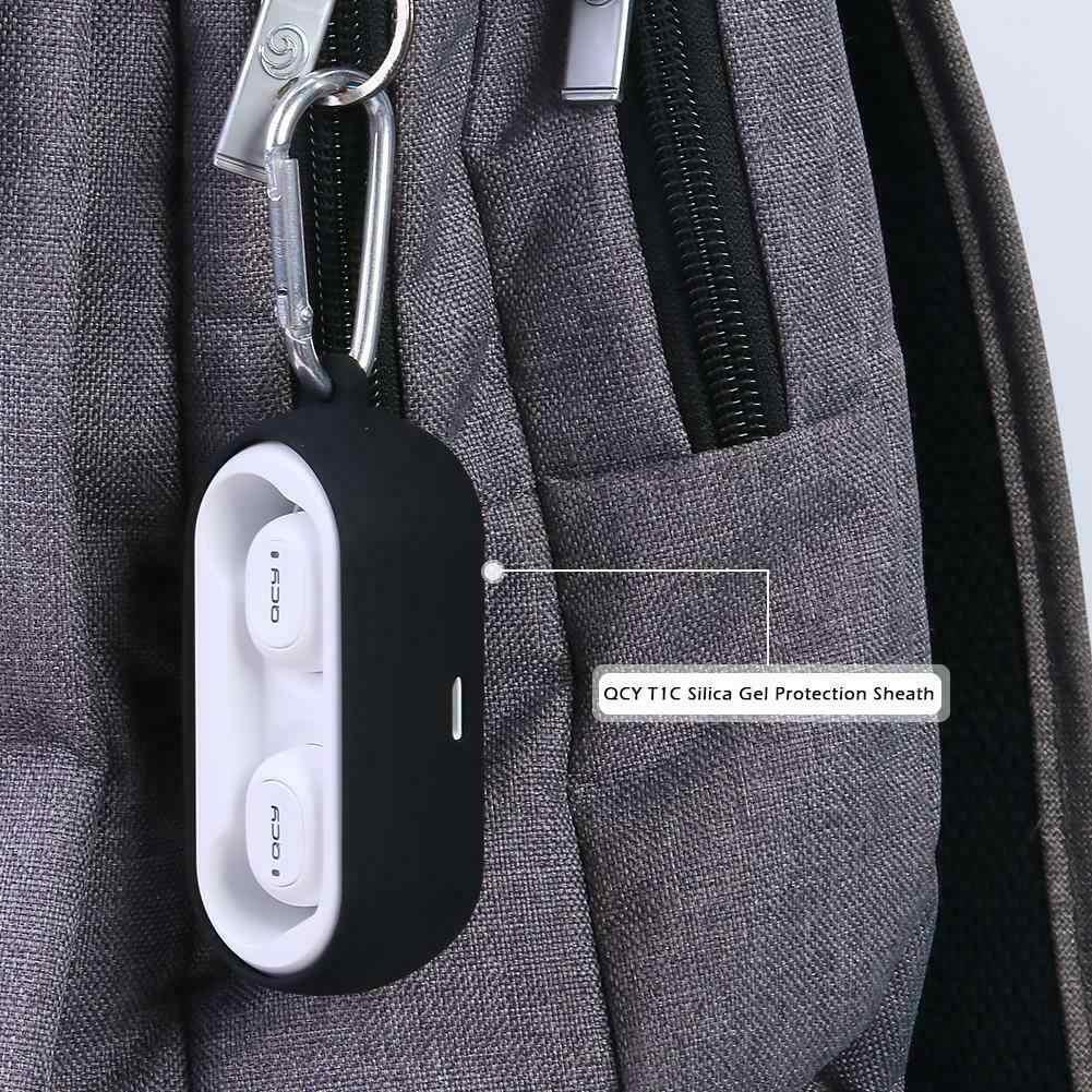 2019 nowy silikonowa osłona ochronna etui na słuchawki dla QCY T1C moda słuchawki przypadku dla QCY T1C bezprzewodowe słuchawki Bluetooth