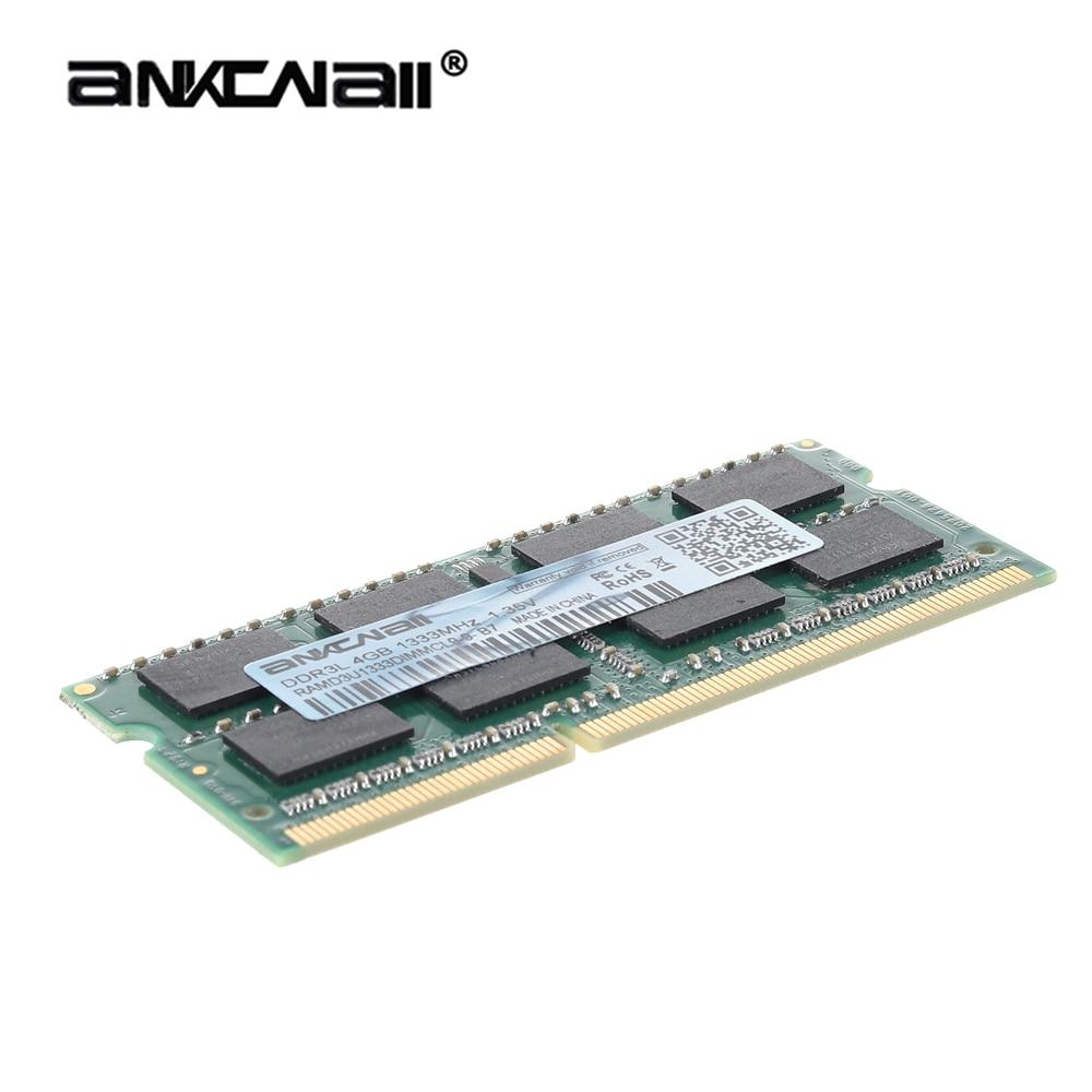 Оперативная память для ноутбука ANKOWALL DDR3 2 ГБ 4 ГБ 8 ГБ 1333 1600 1866 МГц sodimm ddr3l 204pin 1,35 в