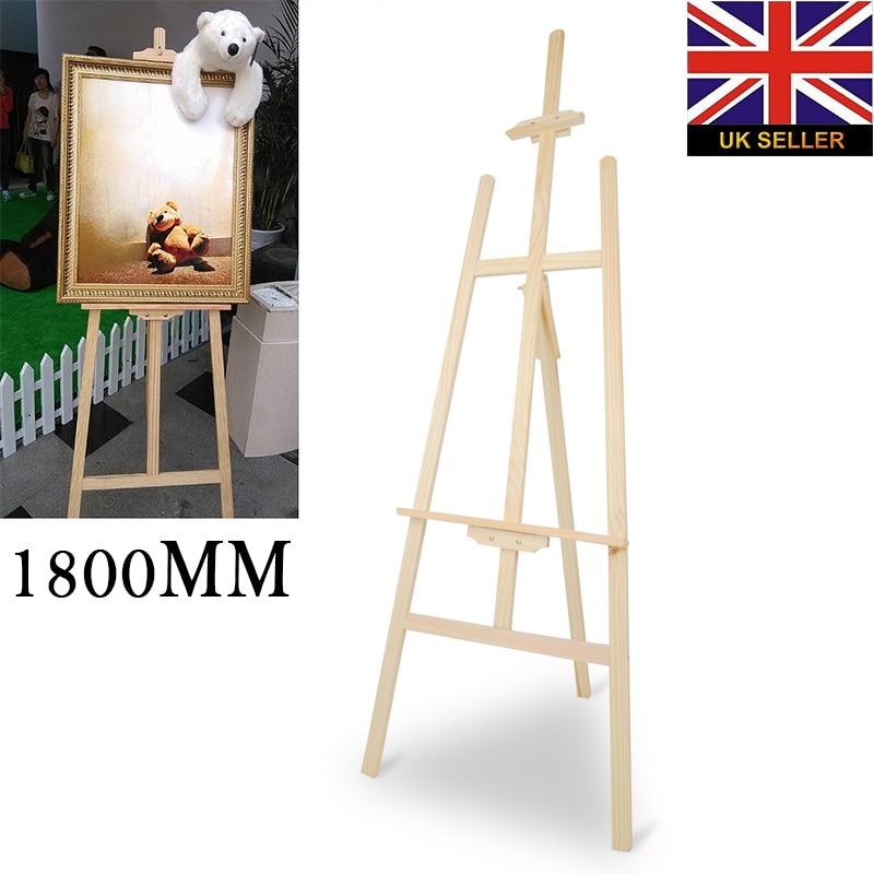 180cm artista de madera caballete de madera MESA DE BODA soporte de tarjeta soporte pantalla ajustable exposición publicitaria estante de exhibición