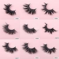 WOWANGEL 3D Mink Eyelashes Wholesale 30/40//50 Pairs Fuffly Luxury False Eyelashes Dramatic Volume Fake Lashes Makeup Tool