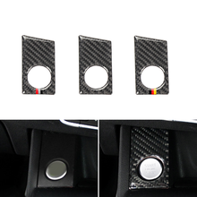 Voor Audi A4 B9 A4L 2017 2018 Koolstofvezel Auto Interieur Motor Start Stop Ring Panel Cover Trim
