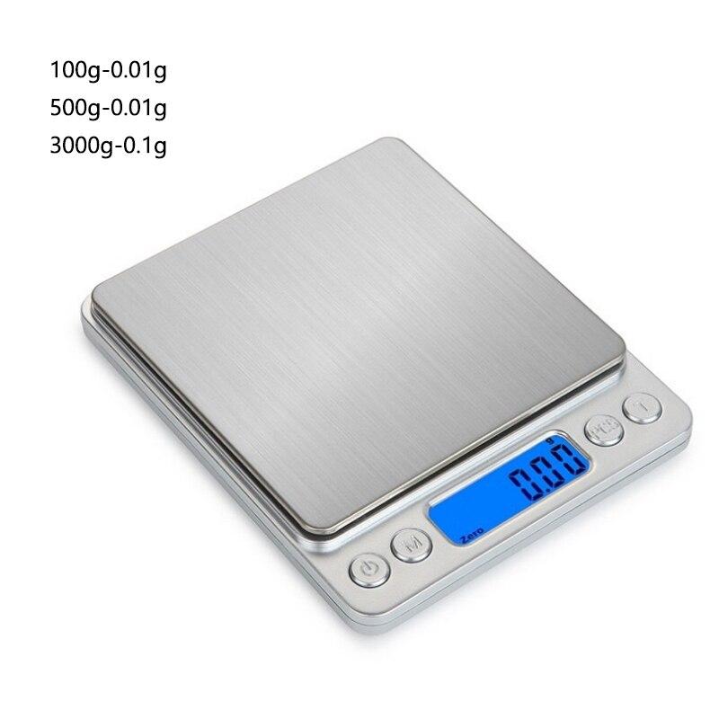 Точные цифровые весы 0,01 г/0,1 г с ЖК-дисплеем, электронные мини-весы 500 г/3000 г, весы для взвешивания чая и выпечки-0