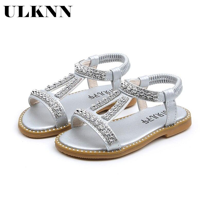 ULKNN Summer Style Girls Sandals Children Toddler Kids Girls Beach Sandals Cute Bow Girls Princess Shoes 1-8 Years Sneakers