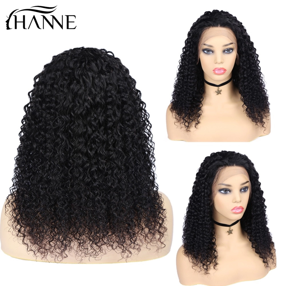 HANNE Curly Lace Front Human Hair Wigs 13*4 Brazilian Lace Remy Hair Wigs Pre Plucked Wig 150% Density For Black Women Free Ship