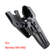 Tactical Holster Military Pistol Holsters Holder Level 3 Lock Right Hand Waist Belt Gun for Beretta M9 M92