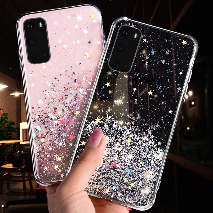 Glitter Cover For Samsung Galaxy A51 A71 A81 A91 A50 A50S A40 A40S A30 A30S A20S A20E A20 A10S A10 S20 S10 S9 Plus A515F Case