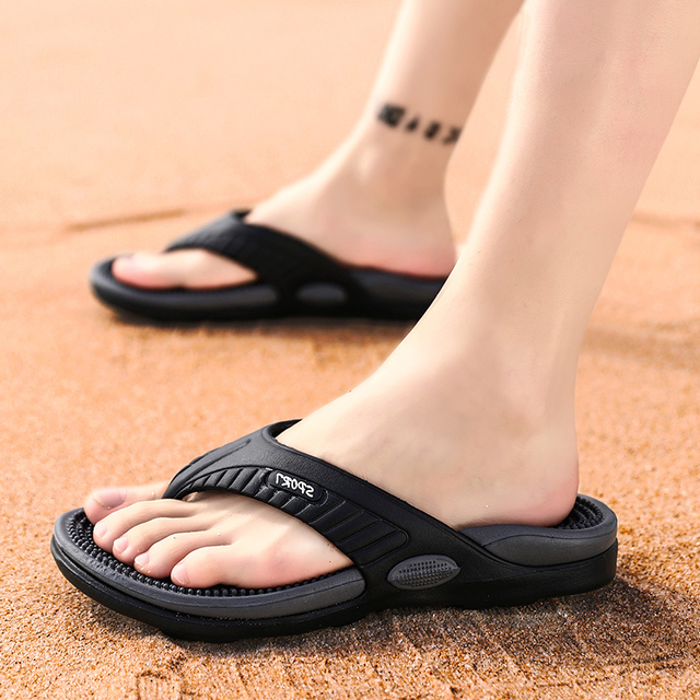 Massage Flip-flops Summer Men Slippers Beach Sandals Comfortable Men Casual Shoes Fashion Men Flip Flops Hot Sell Footwear 2021 3