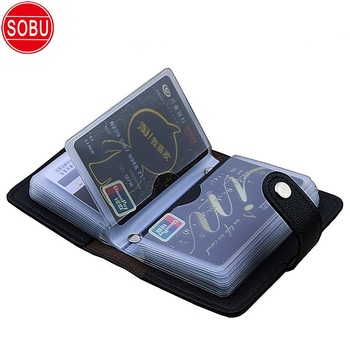 24 Bits Card Case Men Leather Function Business Card Holder Men Women Credit Passport Card Bag ID Passport Card Wallet 20 Colors 1