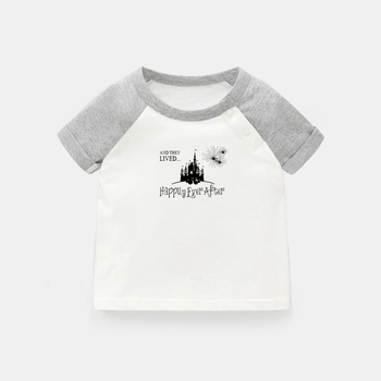 And She Lived Happily Ever After BAH HUMBUG Design Newborn Baby T-shirts Toddler Graphic Raglan Color Short Sleeve Tee Tops image