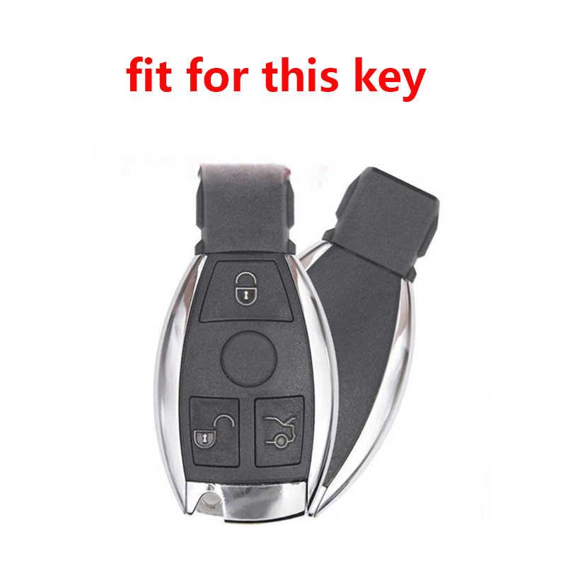 Key Case Voor Mercedes Benz W203 W210 W211 Amg Ces Cls Clk Cla Key Cover Voor Benz C350 glk Glc GLE350 GLS500 Slc 260 Flip Sleutel