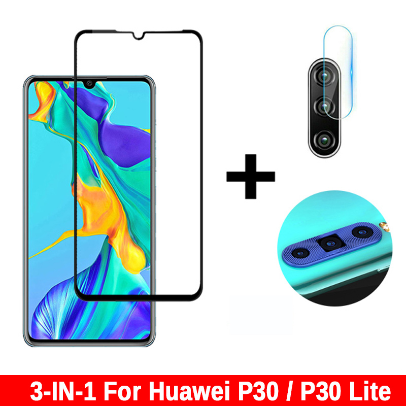 3 In 1 Protective Glass For Huawei P30 P30lite Tempered Glass Screen Protector Camera Glass For Huawei P30 P 30 Lite Light Film