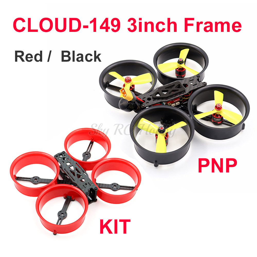 CLOUD 149 149mm 3inch Carbon Fiber Frame 1407 4000KV Motor 4S 20A BLHELI_S Mini F4 1200TVL Camera FPV Racing RC Drone PNP / KIT