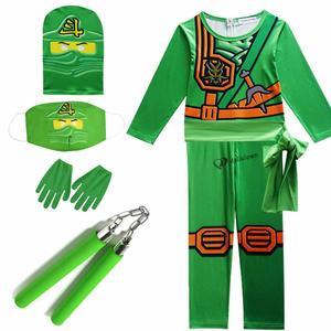 2020 Ninjago Costume Boy Costume Child Fancy Party Dress Up Carnival Halloween Costume For Kids Ninja Cosplay Superhero Jumpsuit