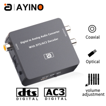 DAC 5.1CH HIFI Digital to Analog Audio Decoder Converter stereo audio DTS AC3 PCM Optical Fiber Coaxial to RCA 3.5MM 2CH DA600