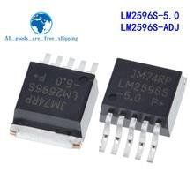 10 pçs/lote LM2596S-5.0 LM2596S-ADJ LM2596S LM2596 2596 A-263 Em Estoque