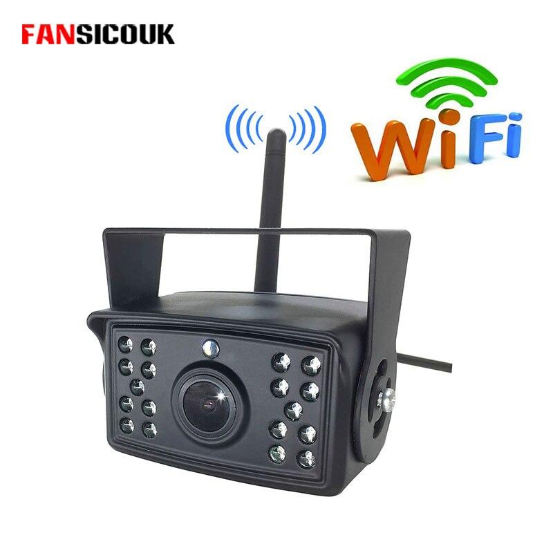 Беспроводная камера заднего вида для грузовика, прицепа, автобуса, кемпера, автомобиля, Wi Fi, камера заднего вида, ночное видение, водонепрони...
