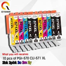 PGI-570XL CLI-571XL FOR Pixma TS 5055 9055 5050 5051 5052 5053 Printer ink cartridge pgi570 cli571 pgi-570 full ink refill