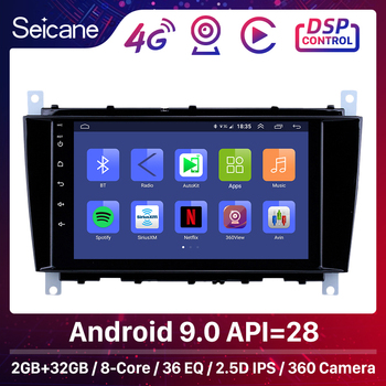 Seicane Android 9.0 GPS Car Radio 8'' for Mercedes Benz C Class C55 / CLC Class W203 /CLK Class W209 /CLS Class W219 2004-2011 image